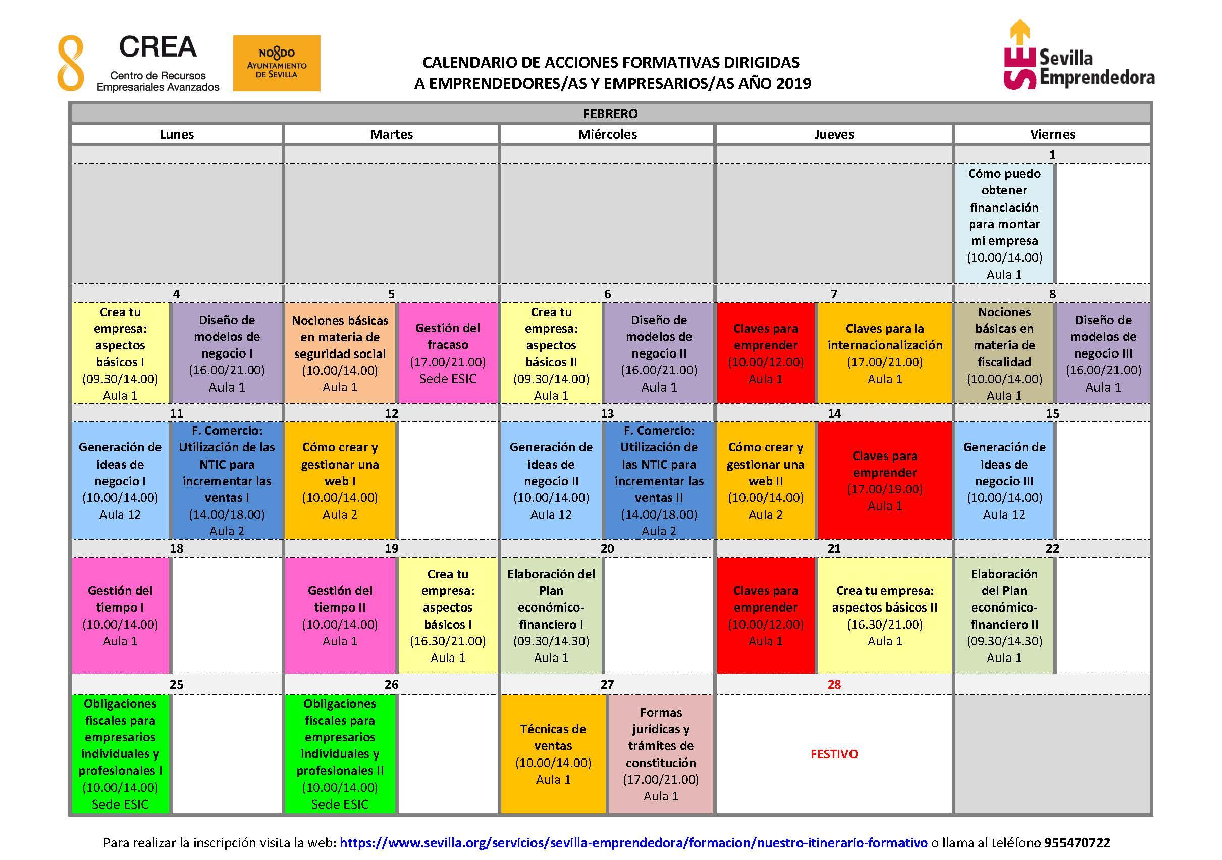 Calendario Autonomos 2019.Uatae Andalucia Autonomos Formacion Continua